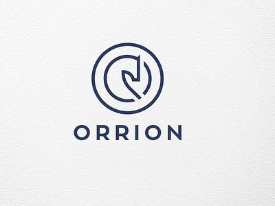 ORRION bank financial logotype logo blue circle horse