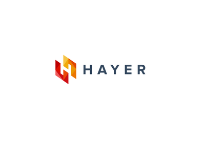 HAYER yellow red color logotype logo space negative h