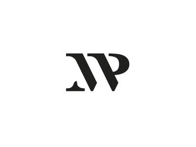 MP ( monogram ) black logotype logo typography monogram letter p m