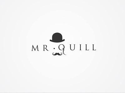 Mr. Quill dot logotype logo glasses hat sale