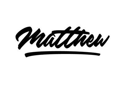 Matthew brush shirt letter custom script lettering logotype typography typeface logo typo