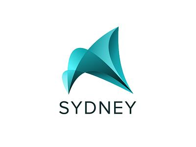 SYDNEY ( redesign ) blue logotype branding brand logo city sydney australia