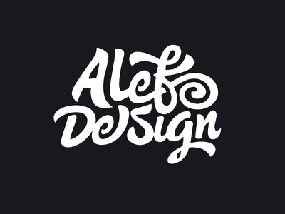Alef Design 2 design flip wordmark typography script logotype logo lettering identity branding