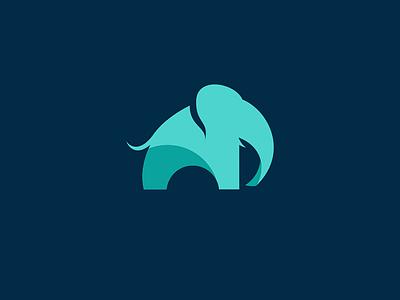 elephant blue logotypes logotype logo icon animal elephant