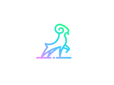Ram logo colorful ram color line animal logotype logo