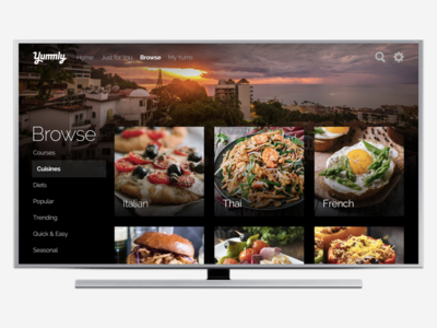Yummly for Apple TV