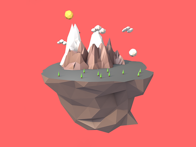 Hello Dribbblers 3d low poly