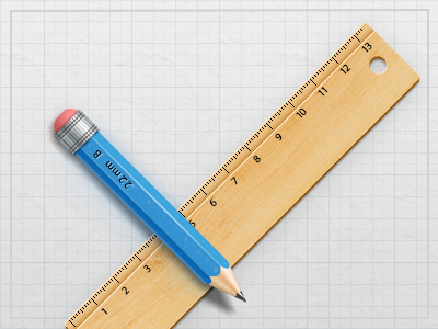 Ruler & Pencil ruler pencil paper