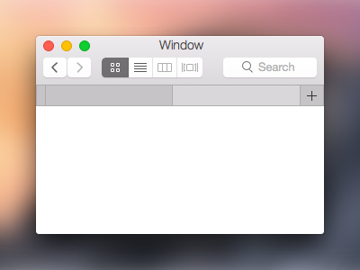 Yosemite GUI in Sketch os x yosemite mac apple gui finder sketch window
