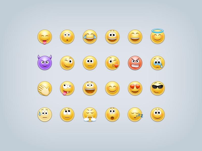 Emoticons by Konstantin Kopachinsky on Dribbble