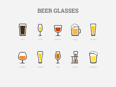 Beer Glasses glyph outline foam glass beer flat icon