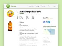 Beer cap description page