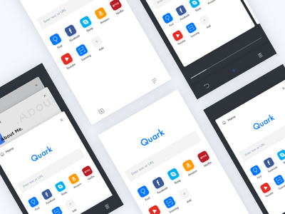 Quark Redesign minimalism type typography grid colors blog app clean