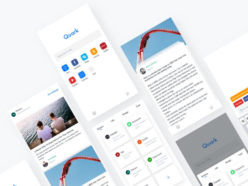 Quark Redesign | Search by Muzli