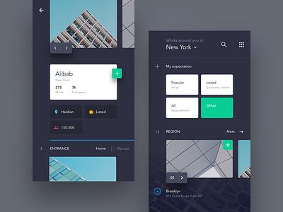 UI exercises #1/100 Recruitment App minimalism,browser clean app blog colors grid typography type