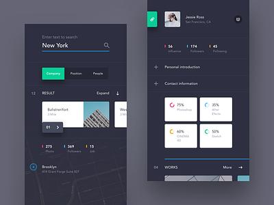 UI exercises #2/100 Recruitment App type typography grid colors blog app clean minimalism,browser
