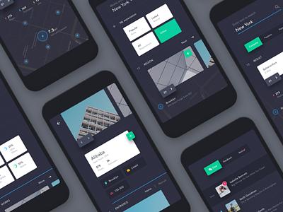 UI exercises #3/100 Recruitment App minimalism,browser clean app blog colors grid typography type