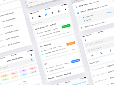 UI exercises #5/100 map App map minimalism,browser clean app blog colors grid typography type