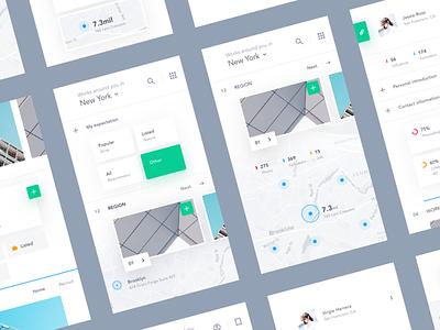 UI exercises #8/100 Recruitment App type typography grid colors blog app clean minimalism,browser
