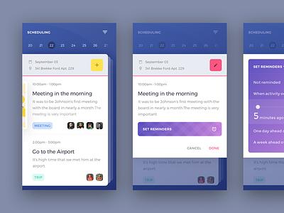 UI exercises #10/100 icon Scheduling scheduling jadon7 minimalism clean app blog colors grid typography
