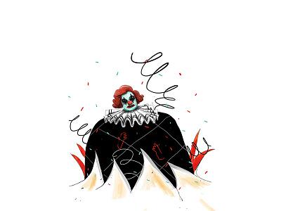 Clown sabitfikir surprise hate editorial fear clown bookcover book drawing illustration