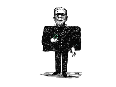 Frankenstein photoshop akifkaynar sabitfikir flower monster mad frankenstein cinema drawing illustration