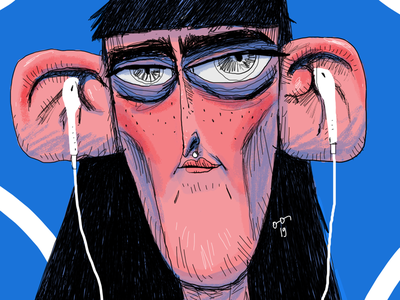 Untitled 004 music portrait digitalart illustration drawing artwork art