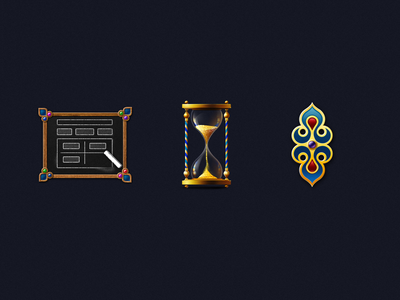 Icons eastern style 2d icons illustration