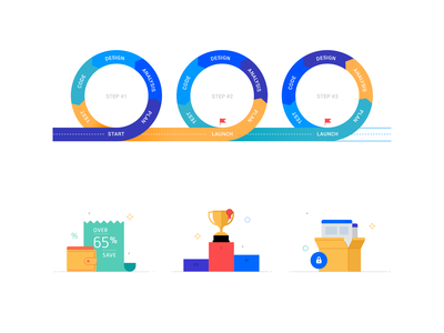 Icons and sсhemes vector icons illustration