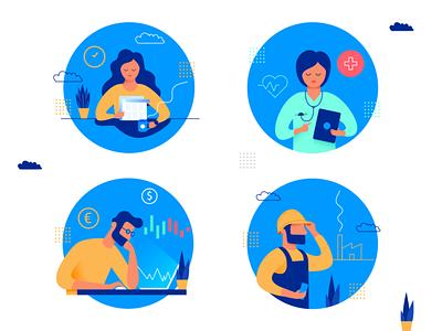 Website illustration vector illustration