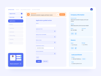 Medical loans concept ux interface ui
