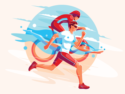 Triathlon illustration