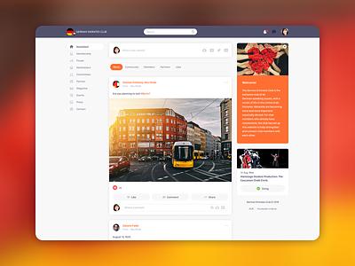 Social network wip web interface ui design ui  ux ui