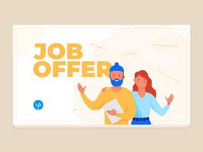 Job offer vector character design illustration