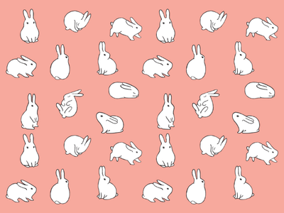 Bunnies pattern toy cute animal rabbit bunny baby