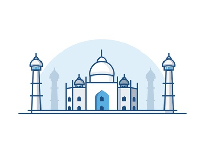 Taj Mahal india taj mahal illustration