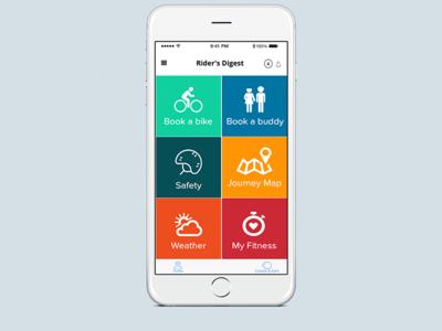 Bike Sharing App Home Screen