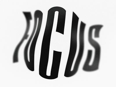 Focus depth of field experiment photoshop experimental type typeface font design typogaphy graphicdesign