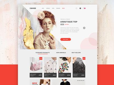 Saviee Ecommerce Website