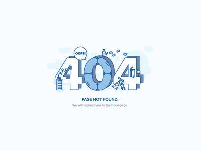 Oops! error 404 error page not found illustration