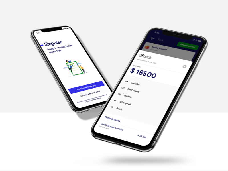 Mutual Funds and Banking app track money add money onboarding mutual funds banking bank branding ui ux user experience user interface design design