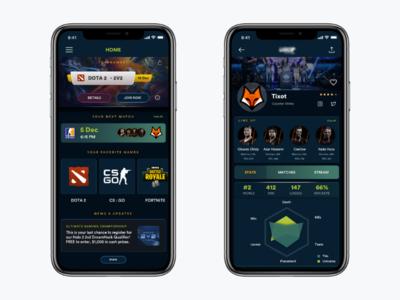 App for an esports company