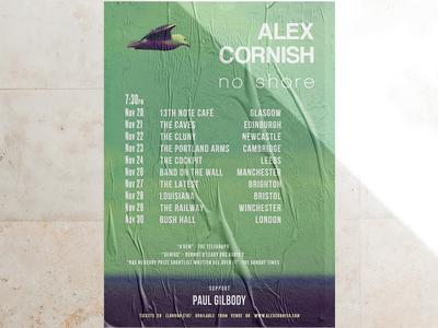 Tour poster for Alex Cornish