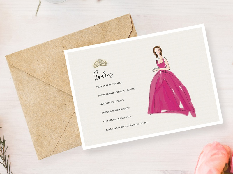 Royal Caledonian Ball Dress code graphic design illustration royal caledonian ball wedding invitation dress code