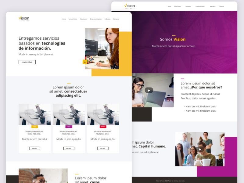 Website Vision Light software design website design webdesign web interface photography website colors minimalist ui ux