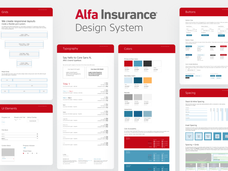 Alfa Insurance Design System ui development style guide design systems