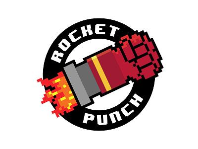 Rocket Punch Logo robo punch rocket game red mech robot gaming logo