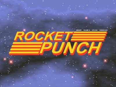 Rocket Punch Power parody yellow red blue space power nintendo rocket punch