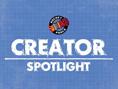 Creator Spotlight Logo blueprints white blue logo