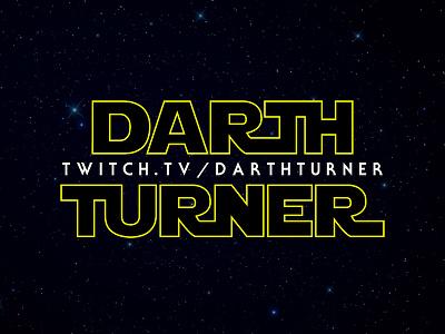 Darth Turner Twitch Banner personal branding twitch star wars yellow black